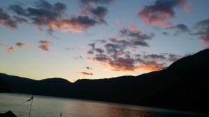 ohne Schiff auf Fjord