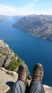 Blick auf den Lysefjorden