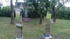 Oslo - Park mit Spiegelelementen