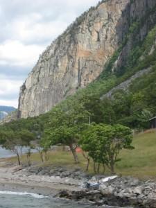 Landschaft am Lysefjord